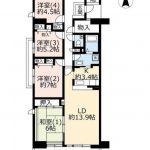 ☆U35割☆UR賃貸「ヴェルディール奈良」7号棟804号室・4LDK