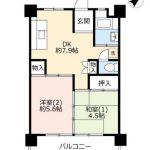 UR賃貸「奈良北団地」1号棟514・2DK