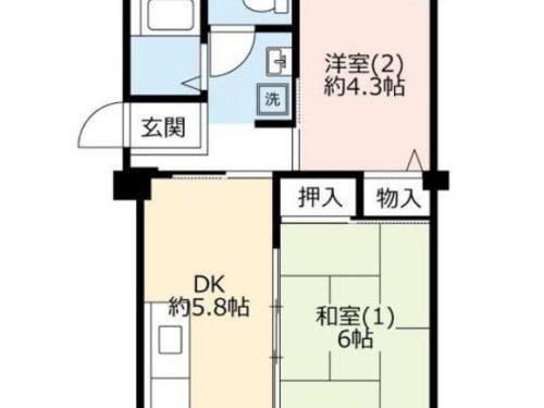 UR賃貸「奈良北団地」7号棟541・2DK