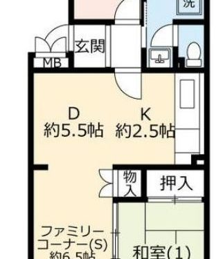 UR賃貸「グリーンヒル鴨志田中央」2号棟407・2SDK