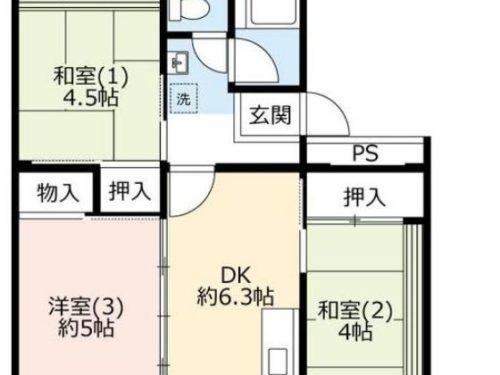 UR賃貸「奈良北団地」13号棟404・3DK