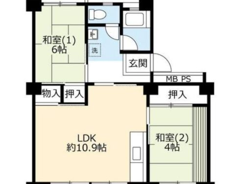 UR賃貸「奈良北団地」3号棟806・2LDK