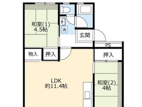 UR賃貸「奈良北団地」15号棟508・2LDK