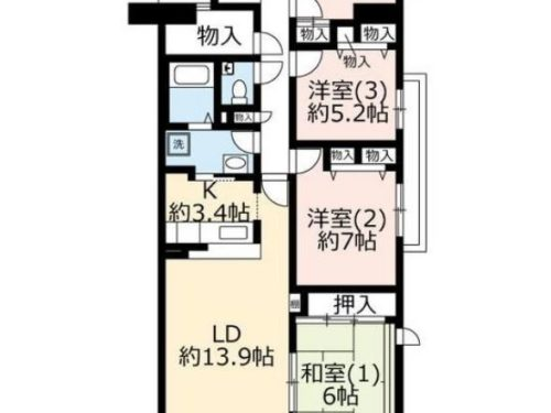 UR賃貸「ヴェルディール奈良」7号棟901号室・4LDK